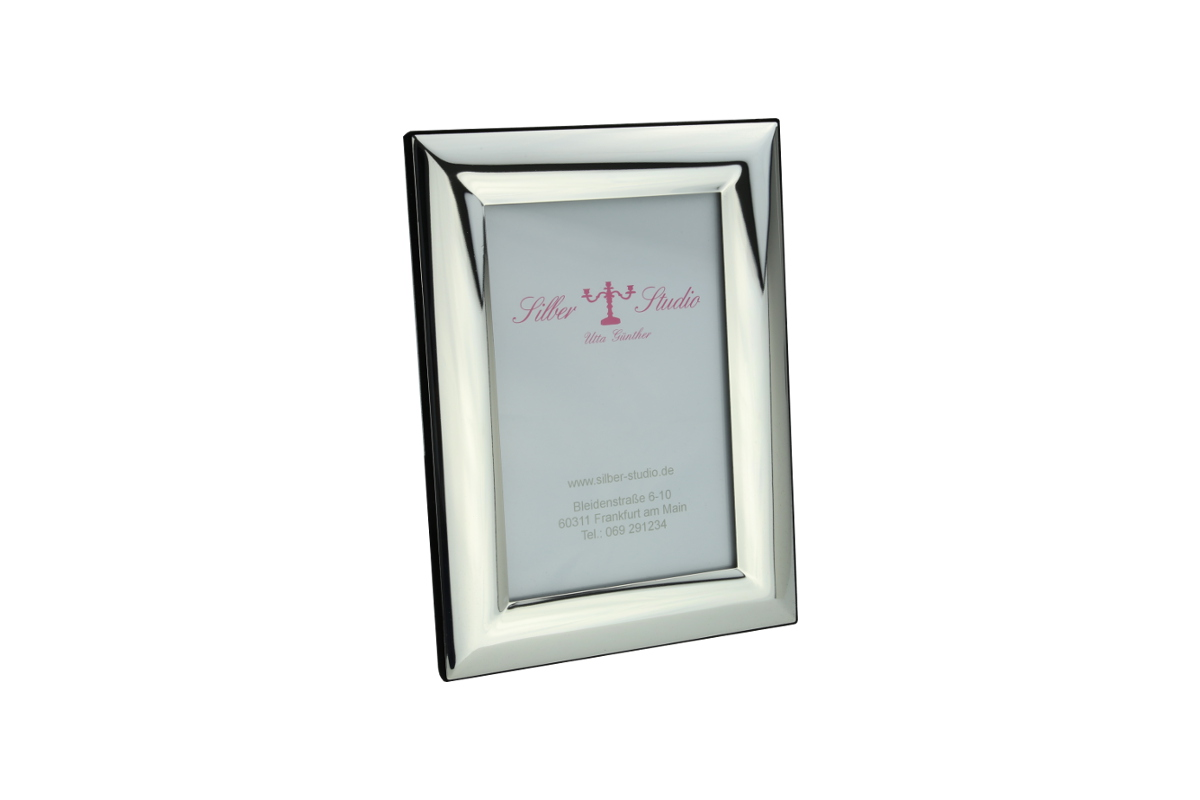 Rahmen versilbert breit glatt 9x13 cm | Silber-Studio