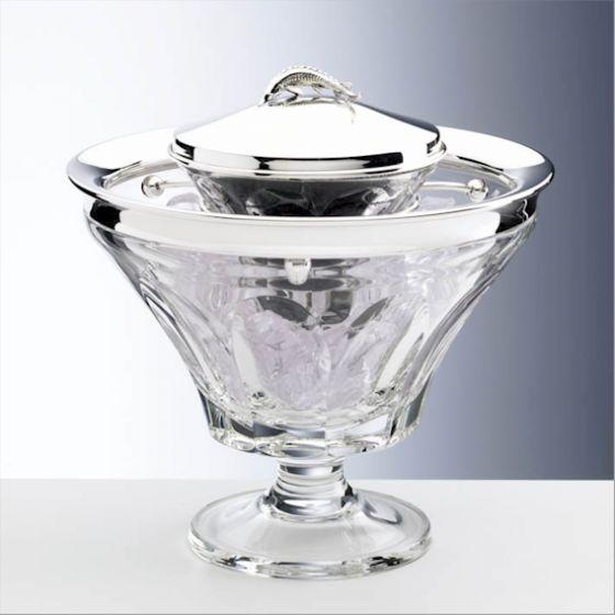 Silber Kaviar Kühler