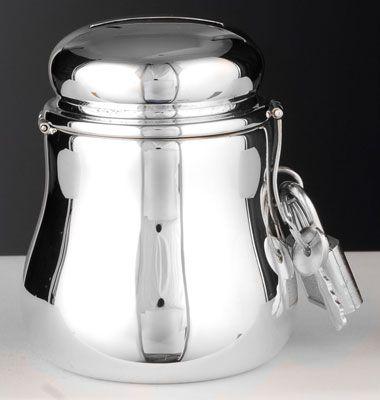 Silber Spardose Biedermeier