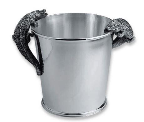 Silber Flaschenkühler Krokodil