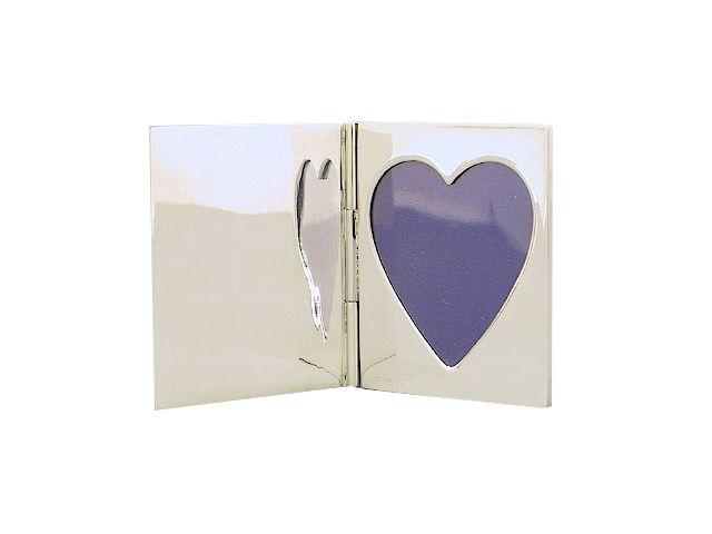 Silber Taschenrahmen Reiserahmen Herz