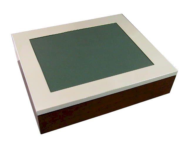 Fotokasten versilbert glatt 19,3x24,3 cm