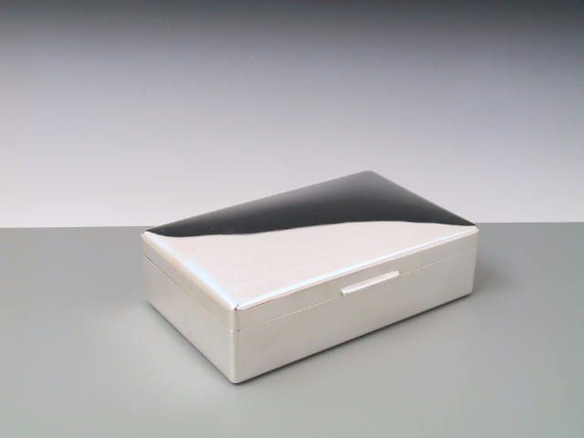 Silberdose, Kiste, Kasten glatt 18x11 cm