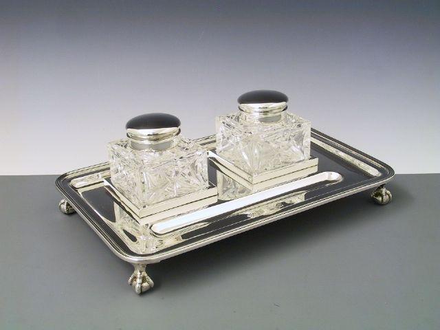 Silber Tintenfässer