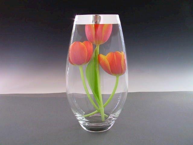 Vasen Kristall Tropfenform