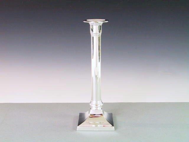 Silber Kerzenleuchter quadratisch 21 cm