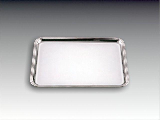 Silbertablett Fadenrand 40x30 cm