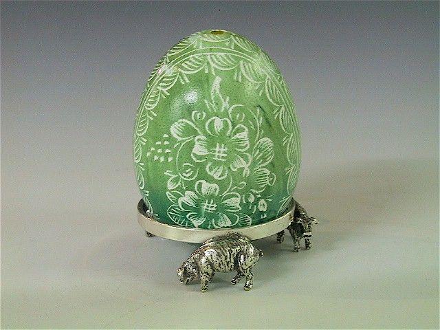 Silber Eier-Ring