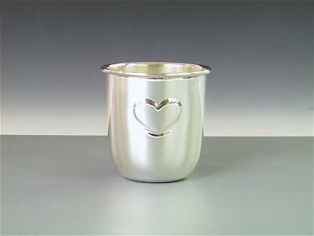 Silber Kinderbecher Taufbecher  mit Herz