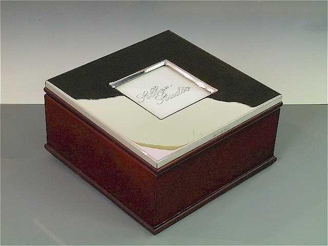 Fotobox Silber 5,5 x 5,5 cm