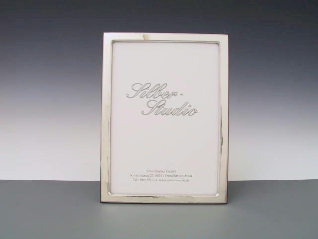 Silberrahmen glatt schmaler Rand 13x18 cm