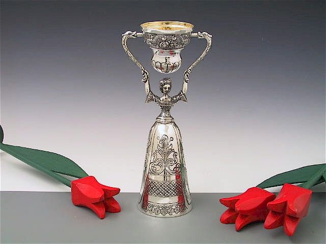 Silber Hochzeitsbecher Brautbecher 21 cm