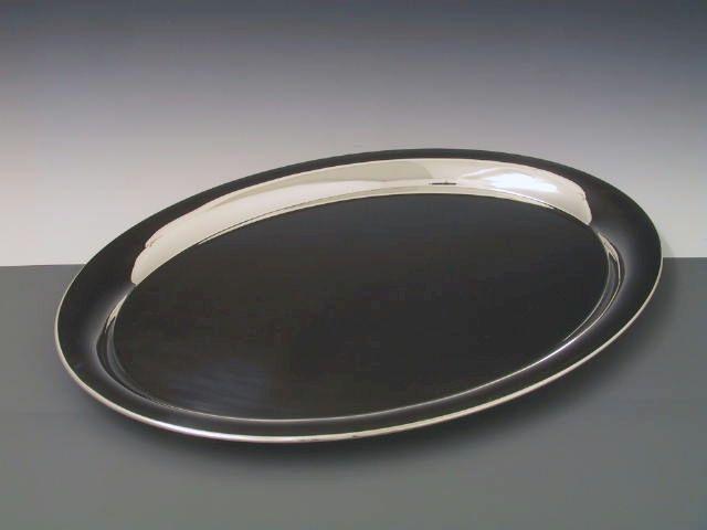 Tablett glatt oval 48x37 cm