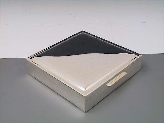Silberdose glatt 12x12 cm