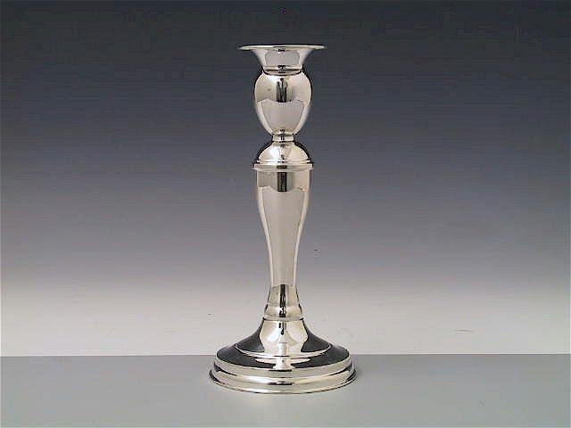 Silber Leuchter Biedermeier 17 cm