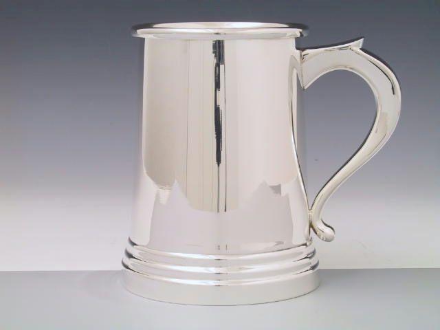 Silber Tankard Bierkrug glatt