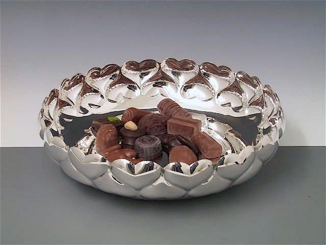 Silberschale Herzwand 22 cm