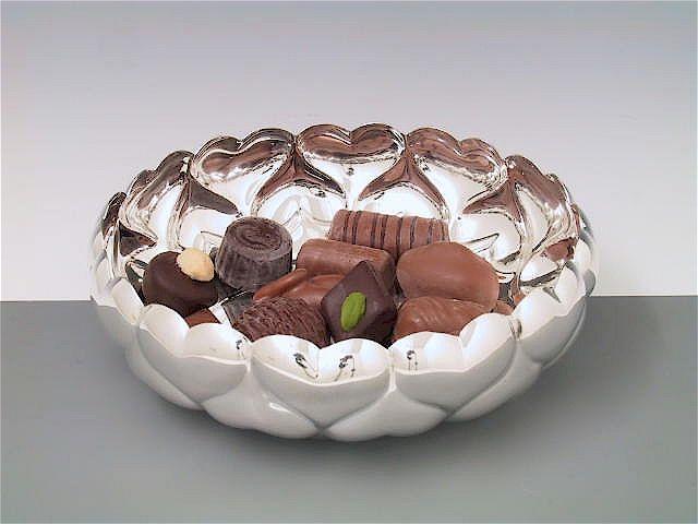 Silberschale Herzwand 16 cm