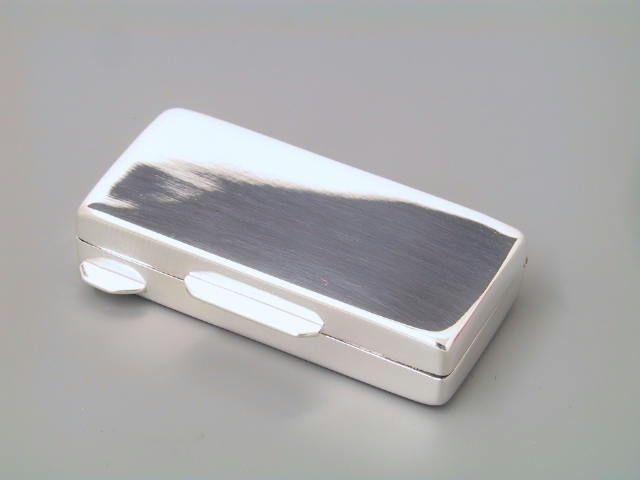 Pillendose Silber glatt 55 x 26 mm
