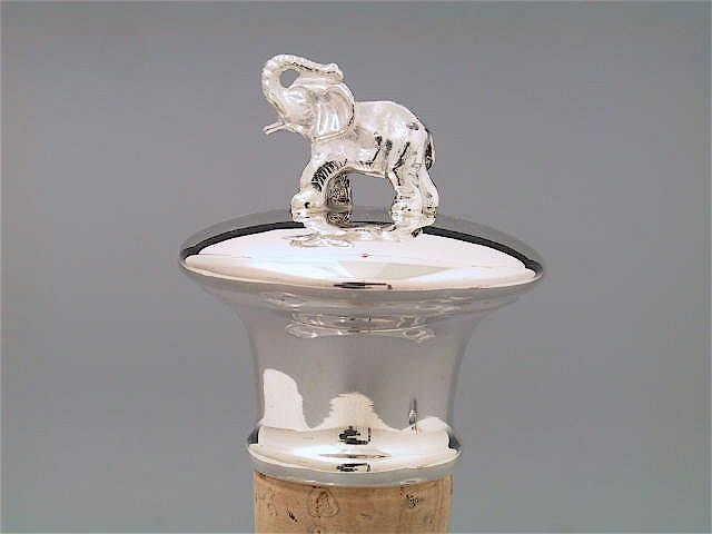 Silber Flaschenkorken Elefant