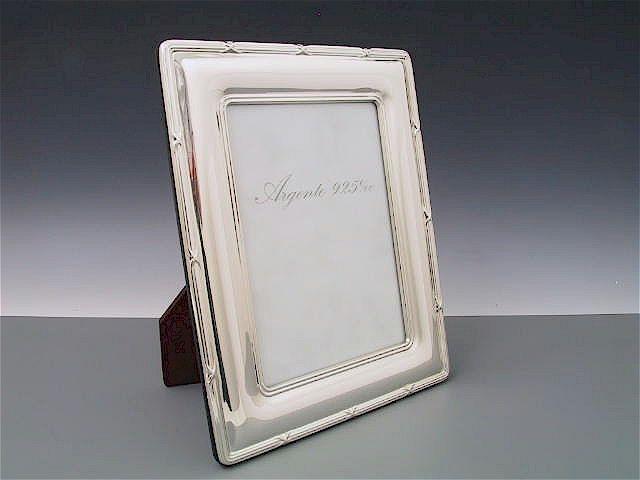 Silberrahmen Kreuzband 13x18 cm
