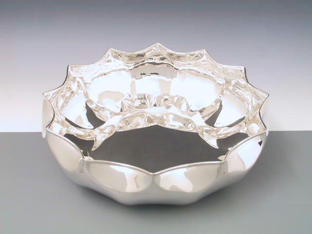Silberschale Sternform 27 cm