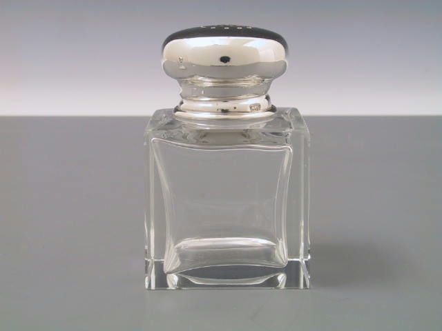 Pfefferstreuer glatt Silber+Kristall