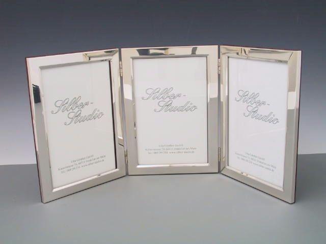 Dreierrahmen Silber 10x15 cm