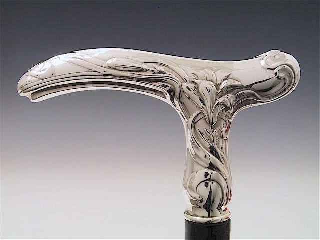 Gehstock Sterling-Silber 925 Barock