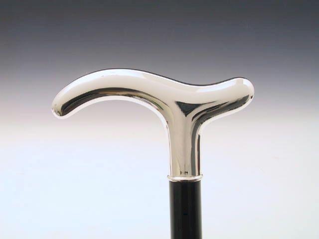 Gehstock Sterling-Silber 925 glatt