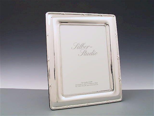 Silberrahmen Kreuzband 18x24 cm