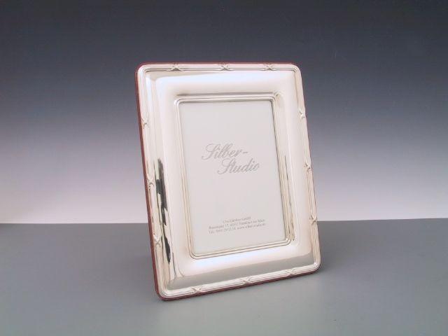 Silberrahmen Kreuzband 9x13 cm