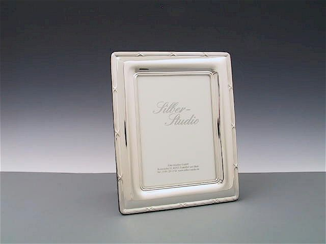 Silberrahmen Kreuzband 10x15 cm