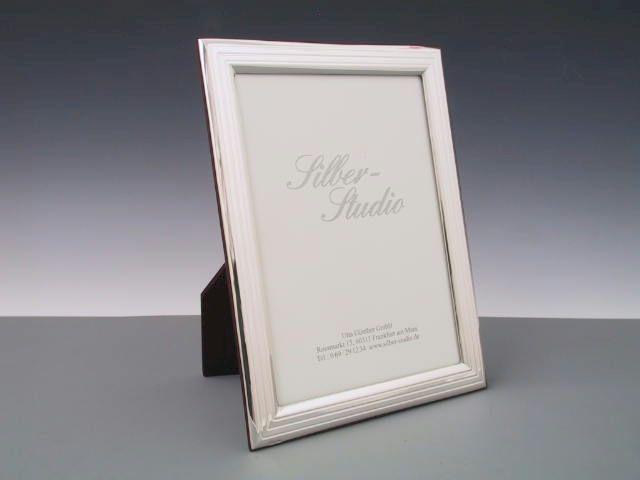 Silber Rahmen mit Riefen 13x18 cm