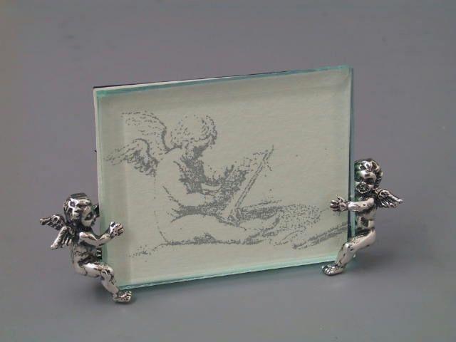 Silberrähmchen mit Putten