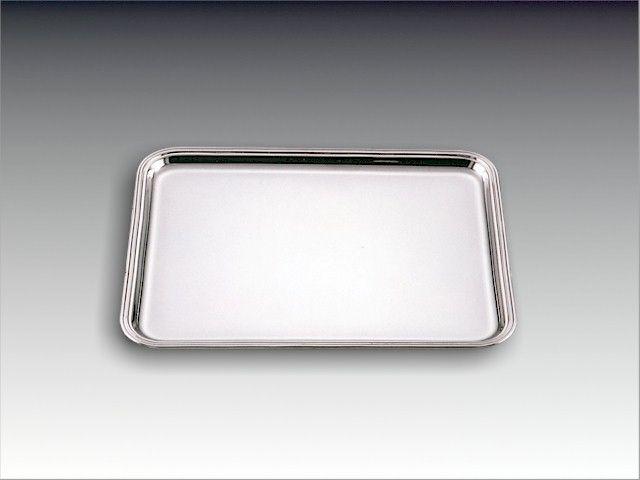 Silbertablett Fadenrand 36x26,5 cm