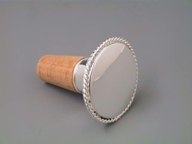 Silber Korken Kordelrand