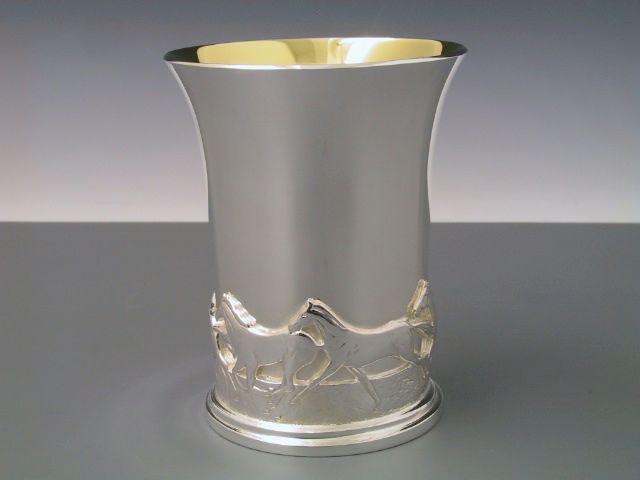 Silber Pferde Becher