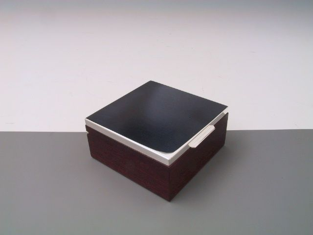 Silberdose, Kiste, Kasten glatt 12x12 cm