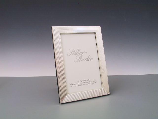 Silberrahmen guilloch 10x15 cm