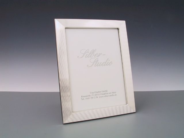Silberrahmen guilloch 13x18 cm
