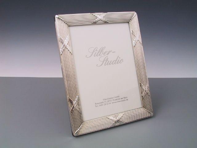 Silberrahmen Kreuzband breit 13x18 cm