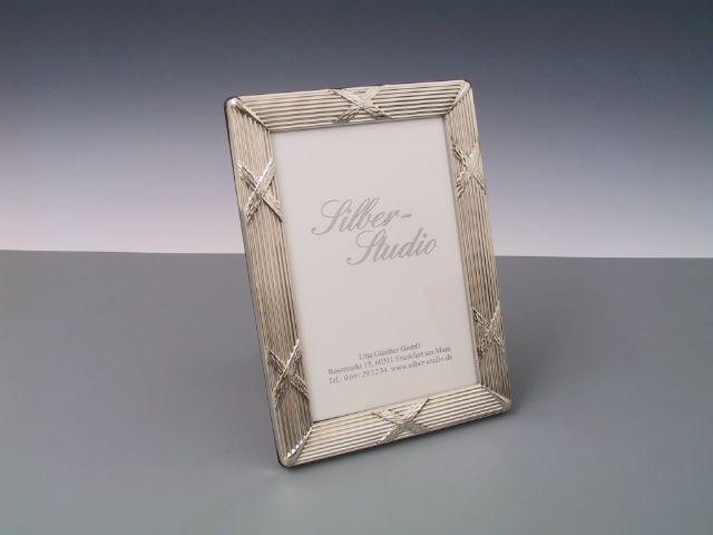 Silberrahmen Kreuzband breit 10x15 cm