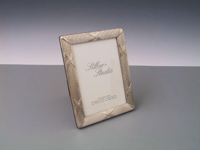 Silberrahmen Kreuzband breit 9x13 cm