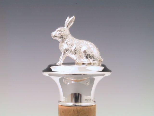 Silber Flaschenkorken Hase