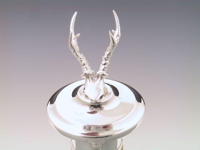 Silber Flaschenkorken Bock Gehörn klein