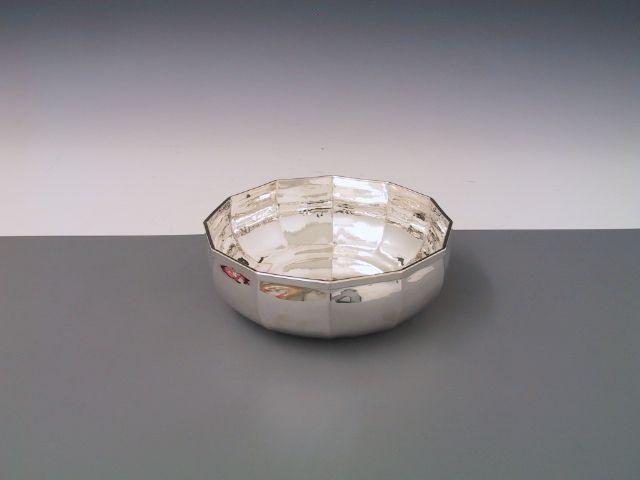 Silber Schale 12eck 15 cm