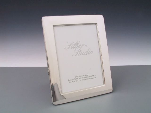 Silber Bilderrahmen glatt runde Ecken 13x18 cm