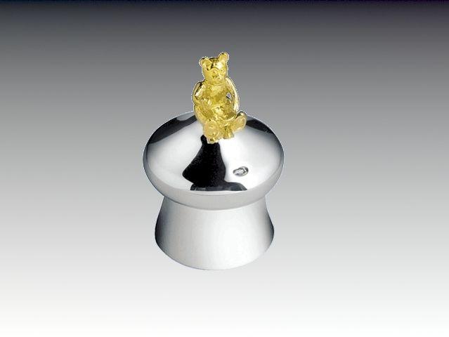 Silber Zahndose Lockendose Bär