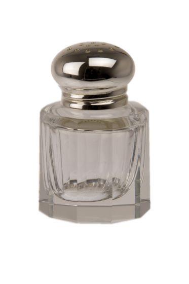 Salzstreuer Facett Silber+Kristall 5 cm